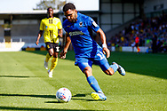 Wimbledon midfielder Andy Barcham (17) in action  during the EFL Sky Bet League 1 match between Burton Albion and AFC Wimbledon at the Pirelli Stadium, Burton upon Trent, England on 1 September 2018.