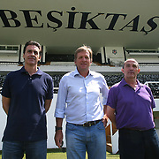 German soccer coach Bernd SCHUSTER (C) has been appointed as the new coach of Turkish giants Besiktas on a two-year contract. Bernd SCHUSTER signed two year contract in Istanbul at Turkey on Wednesday, 16 June, 2010. Photo by TURKPIX