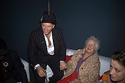 JOE CORRE AND HIS GRANDMOTHER DORA SWIRE, Unveiling of the Vivienne Westwood Opus. Hosted by Vivienne Westwood and Karl Fowler of Kraken Opus. Serpentine Gallery. London. 12 February 2008.  *** Local Caption *** -DO NOT ARCHIVE-© Copyright Photograph by Dafydd Jones. 248 Clapham Rd. London SW9 0PZ. Tel 0207 820 0771. www.dafjones.com.
