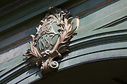 After being closed indefinitely to all traffic due to structural faults, an architectural detail showing 1887, the year Hammersmith Bridge was built, on 11th April 2019, in west London, England. Safety checks revealed critical faults and Hammersmith and Fulham Council has said its ben left with no choice but to shut the bridge until refurbishment costs could be met. The government has said that between 2015 and 2021 its is providing £11bn of support to the 132-year-old bridge.
