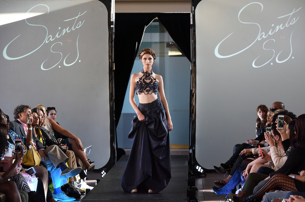 Photo by Mara Lavitt -- Special to the Hartford Courant<br /> October 4, 2015 <br /> Hartford Fashion Week, last day, Union Station, Hartford. Six designers showed their fashions. Saints by S.J.