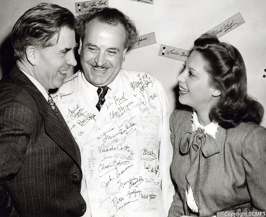 1944 U.S. Vice President chats with Chef Milani and Dinah Shore