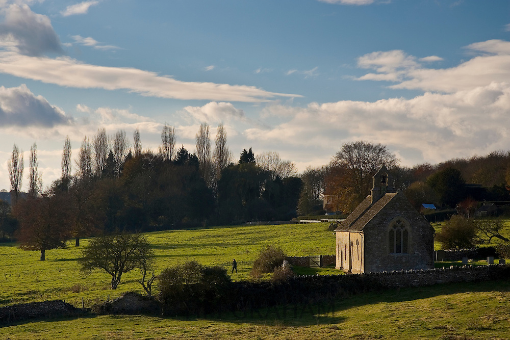 St Oswald's Church in Widford, Oxfordshire,  UK