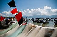 Doc let fishing harbor. Vietnam, Asia.