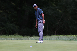 August 9, 2018 - St. Louis, Missouri, United States - Tiger Woods putts during the first round of the 100th PGA Championship at Bellerive Country Club. (Credit Image: © Debby Wong via ZUMA Wire)