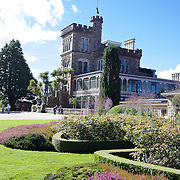 Lanarch Castle on the Otago Peninsular is New Zealand's only Castle. Built 1871 by William Larnach, merchant baron and politician, for his beloved first wife Eliza. 200 workmen spent three years building the Castle shell and master European craftsmen spent a further 12 years embellishing the interior. Larnach spared no expense on his dream home, which features the finest materials from around the world. .The Castle is still privately owned and cared for by the Barker family. This superbly crafted building with magnificent architecture showcases a unique collection of New Zealand antiques, with a tragic and scandalous history, it has spectacular tower views and beautiful gardens. 26th March  2011, Photo Tim Clayton..