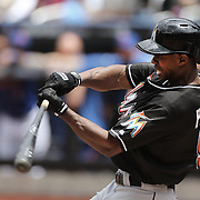 Juan Pierre, Miami Marlins, batting during the New York Mets V Miami Marlins, Major League Baseball game which went for 20 innings and lasted 6 hours and 25 minutes. The Marlins won the match 2-1. Citi Field, Queens, New York. 8th June 2013. Photo Tim Clayton