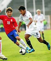 15.11.2009 Novi Sad(Serbia)<br /> Serbia-Norway football Under 21<br /> Norge - Serbia U21<br /> <br /> Uefa Euro qualify<br /> Harmeet Singh (R) Norway and Adem Ljajic (L)Serbia.Serbia won Norway 3:2.