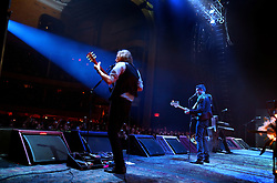 The post-punk band The Killers perform at the Hammerstein Ballroom at Manhattan Center Studios in New York, N.Y. on Oct. 24, 2008.