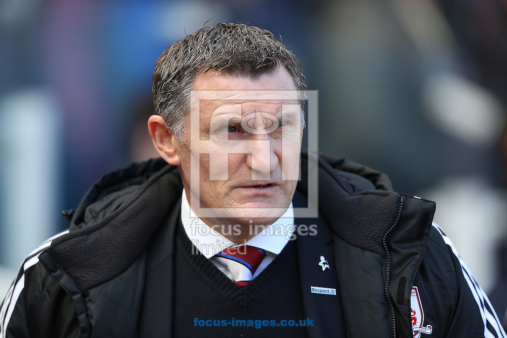 Picture by Paul Gaythorpe/Focus Images Ltd +447771 871632.27/04/2013.Middlesbrough manager Tony Mowbray before the npower Championship match at the Riverside Stadium, Middlesbrough.