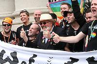 Senator David Norris at the Dublin Pride 2012 LGBTQ festival parade Dublin City Ireland. Saturday 30th June 2012.