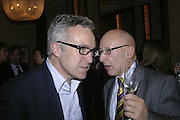 Stephen Bayley and Reuben Berg , Charles Finch and Weidenfeld and Nicolson host a party to celebrate the publication of 'Dancing Into Battle' by Nick Foulkes. The Westbury Hotel, Conduit St. London. 14 December 2006. ONE TIME USE ONLY - DO NOT ARCHIVE  © Copyright Photograph by Dafydd Jones 248 CLAPHAM PARK RD. LONDON SW90PZ.  Tel 020 7733 0108 www.dafjones.com