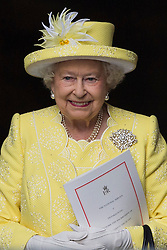 © Licensed to London News Pictures. 10/06/2016.  HRH QUEEN ELIZABETH II attends The National Service of Thanksgiving to mark the 90th Birthday of Queen Elizabeth II at St Paul's Cathedral. London, UK. Photo credit: Ray Tang/LNP