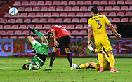 NONTHABURI, THAILAND - JULY 02: Patiwat of Pattaya United went for a save during the second half of the Thai League: SCG Muangthong United vs Pattaya United at SCG Stadium, Nonthaburi, Thailand on July 02, 2017.<br /> .<br /> .<br /> .<br /> (Photo by: Naratip Golf Srisupab/SEALs Sports Images)<br /> .<br /> Any image use must include a mandatory credit line adjacent to the content which should read: Naratip Golf Srisupab/SEALs Sports Images