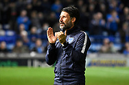 Portsmouth manager Danny Cowley during the EFL Sky Bet League 1 match between Portsmouth and Ipswich Town at Fratton Park, Portsmouth, England on 19 October 2021.