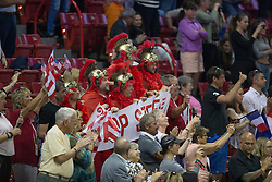 Suisse supporters for Steve Guerdat <br />  Longines FEI World Cup™ Jumping Final Las Vegas 2015<br />  © Hippo Foto - Dirk Caremans<br /> Final III round 2 - 20/04/15