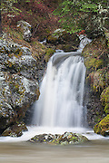 Autumn waterfall in Yellowstone