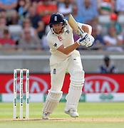 Jonny Bairstow bats during the first Test Match between England and India at Edgbaston, Birmingham. Photo: Graham Morris  / www.photosport.nz