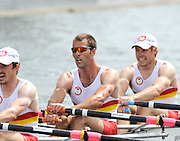 Henley, GREAT BRITAIN, Prince of Walesl Challenge Cup. Tideway Scullers School.  Bow. TYNMAN, .Richard.  .DUNLEY,.James. HENNESSY, Michael .Stroke, KUSURIN, Ante. 2010 Henley Royal Regatta. 14:52:23   Thursday  01/07/2010.  [Mandatory Credit: Peter Spurrier / Intersport-images] Rowing Courses, Henley Reach, Henley, ENGLAND . HRR.
