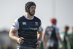 March 2, 2019 - Galway, Ireland - Dan Evans of Ospreys pictured during the Guinness PRO 14 match  between Connacht Rugby and Ospreys at the Sportsground in Galway, Ireland on March 2, 2019  (Credit Image: © Andrew Surma/NurPhoto via ZUMA Press)
