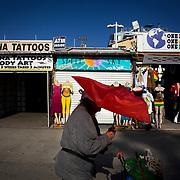 Venice Beach boardwalk.