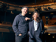 Gemma Arterton and Ian Rickson at The Harold Pinter Theatre ahead of their new show Walden.<br />  <br /> London on May 18. 2021.<br /> <br /> Photographed by Ki Price for Inspire