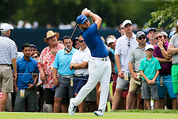 August 9, 2018 - St. Louis, Missouri, United States - Jordan Smith tees off the 7th hole during the first round of the 100th PGA Championship at Bellerive Country Club. (Credit Image: © Debby Wong via ZUMA Wire)