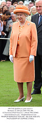 HM THE QUEEN at a polo match in Berkshire on 25th July 2004.PXL 456