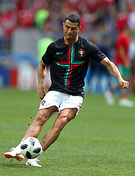 June 20, 2018 - Moscou, Rússia - MOSCOU, MO - 20.06.2018: PORTUGAL X MOROCCO - CRISTIANO RONALDO of Portugal during the match between Portugal and Morocco valid for the 2018 World Cup held at the Lujniki Stadium in Moscow, Russia. (Credit Image: © Rodolfo Buhrer/Fotoarena via ZUMA Press)