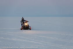 When snowmobiles weren't racing on the ice track, they were having fun in the snow at the Baikal Mile Ice Speed Festival. Maksimiha, Siberia, Russia. Friday, February 28, 2020. Photography ©2020 Michael Lichter.