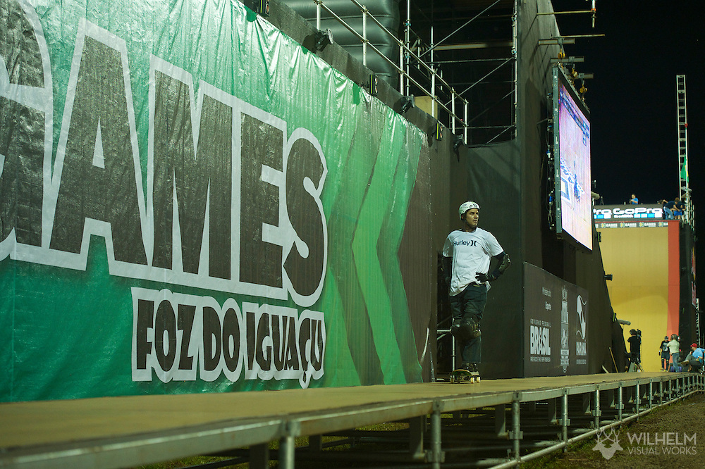 Bob Burnquist during Big Air Practice at the 2013 X Games Foz do Iguacu in Foz do Iguaçu, Brazil. ©Brett Wilhelm/ESPN