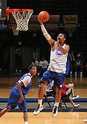 Michael Gbinije at the NBPA Top100 camp at the John Paul Jones Arena Charlottesville, VA. Visit www.nbpatop100.blogspot.com for more photos. (Photo © Andrew Shurtleff)