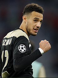 Noussair Mazraoui of Ajax during the UEFA Champions League group E match between Bayern Munich and Ajax Amsterdam at the Allianz Arena on October 02, 2018 in Munich, Germany