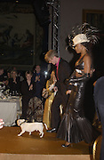 Philip Treacy and Naomi Campbell. Moet and Chandon fashion tribute to Philip treacy. V. & a. 16 April 2002. © Copyright Photograph by Dafydd Jones 66 Stockwell Park Rd. London SW9 0DA Tel 020 7733 0108 www.dafjones.com