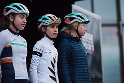 Niamh Fisher-Black (NZL) doesn't look impressed with the conditions at the 2020 Liège Bastogne Liège, a 135 km road race from Bastogne to Liège, Belgium on October 4, 2020. Photo by Sean Robinson/velofocus.com