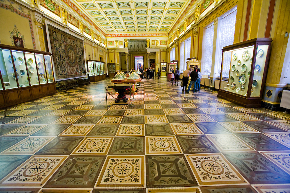 An inside view of the Hermitage Museum in St. Petersburg, Russia.