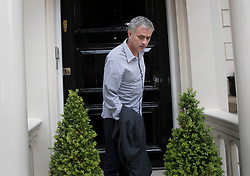© Licensed to London News Pictures. 25/05/2016. London, UK.  Jose Mourinho leaves his house. Mourinho is expected to be named as Manchester United manager in the next few days. Photo credit: Peter Macdiarmid/LNP