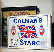 Tin of Colman's Starch 1927. Found in the kitchen of Upton House.