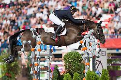 Michael Jung, (GER), Fischerrocana FST - Jumping Eventing - Alltech FEI World Equestrian Games™ 2014 - Normandy, France.<br /> © Hippo Foto Team - Jon Stroud<br /> 31-08-14