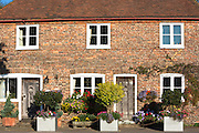 Traditional cottages in the village of Biddenden in Kent, England, UK
