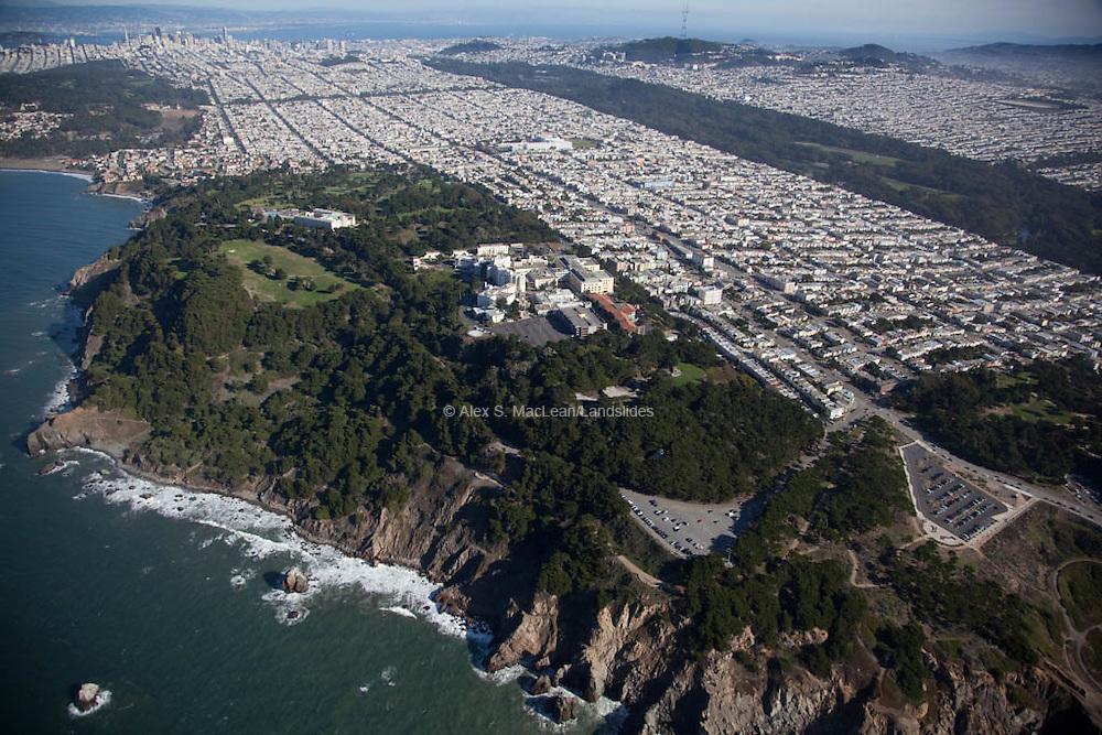 Land's End, Sea Cliffs. Golden Gate Park
