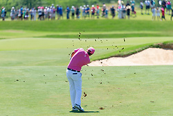 May 12, 2019 - Dallas, TX, U.S. - DALLAS, TX - MAY 12: Matt Jones hits his approach to #6 during the final round of the AT&T Byron Nelson on May 12, 2019 at Trinity Forest Golf Club in Dallas, TX. (Photo by Andrew Dieb/Icon Sportswire) (Credit Image: © Andrew Dieb/Icon SMI via ZUMA Press)
