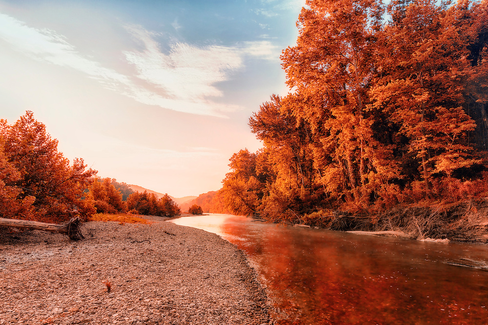 The original take of this shot along Buffalo River in Arkansas without the fine art details