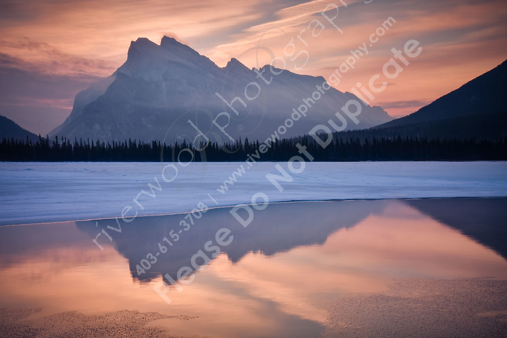 Mount Rundle as seen from Vermillion Lakes in Banff<br /> <br /> ©2009, Sean Phillips<br /> http://www.Sean-Phillips.com