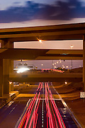 19 SEPTEMBER 2008 -- PHOENIX, AZ: Traffic on Arizona Highway 101 (Loop 101) and the Interstate 17 overpass in Phoenix, AZ.  PHOTO BY JACK KURTZ