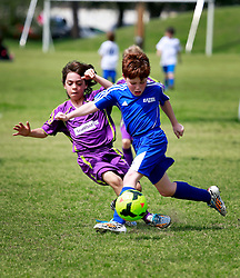 15 March 2015. New Orleans, Louisiana.<br /> U9 New Orleans Jesters Elites, Green team V Gonzales Soccer Club. Final score 2-2.<br /> Photo; Charlie Varley/varleypix.com