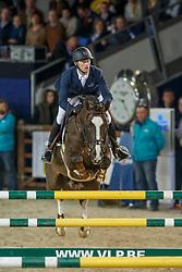 Bruynseels Niels (BEL) - Echo van't Spieveld<br /> Open Stallion Competition<br /> Vlaanderens Kerst jumping Mechelen 2013<br /> © Dirk Caremans