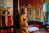 France, Pyrénées-Atlantiques (64), Pays-Basque, vallée des Aldudes, le village Les Aldudes, l'église // France, Pyrénées-Atlantiques (64), Basque Country, Aldudes valley, the village Les Aldudes, the church