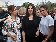 ALEX SHULMAN; NIGELLA LAWSON; VICTORIA BECKHAM, Alex Shulman goodbye party. Dock Kitchen, Ladbroke Grove. London. 22 June 2017