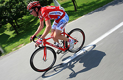 Dario Andriotto of Acqua Sapone during 1st stage of the 15th Tour de Slovenie from Ljubljana to Postojna (161 km) , on June 11,2008, Slovenia. (Photo by Vid Ponikvar / Sportal Images)/ Sportida)